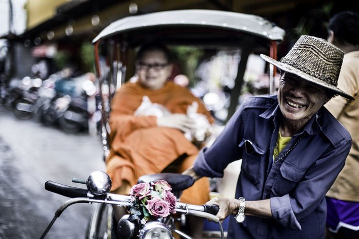 Tricycle Taxi during a Chiang Mai Photo Workshop